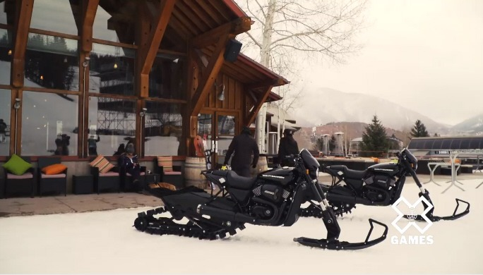 Harley-Davidson Snow Bike Street Rod