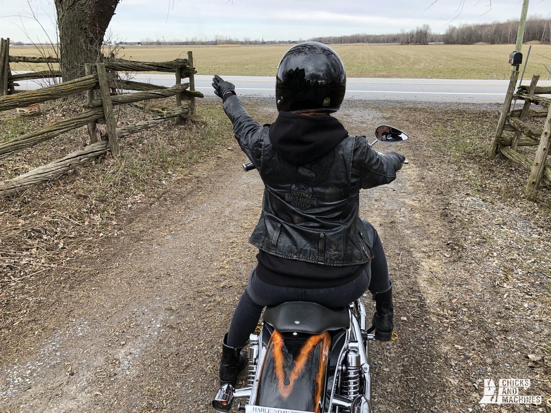 Débutant à moto 4