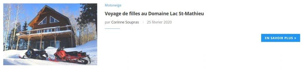 Voyage de filles au Domaine Lac St-Mathieu