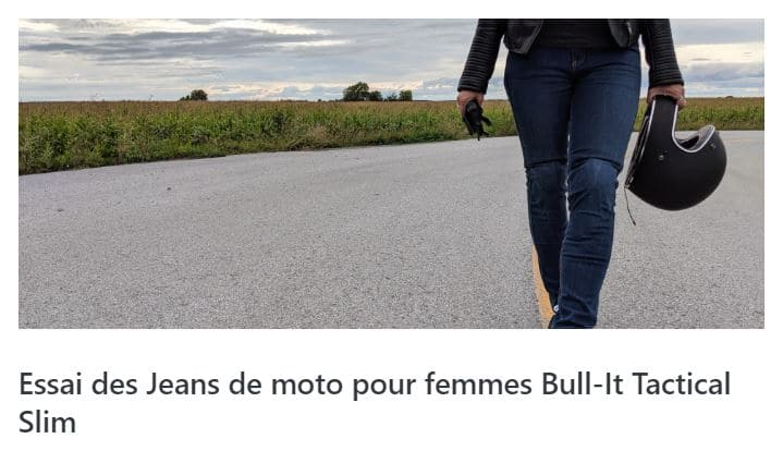 Essai des jeans Bull-it Tactical