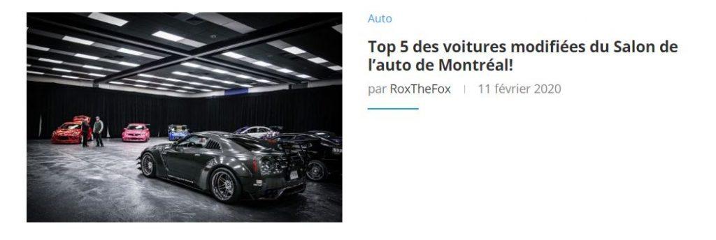 Top 5 des voitures modifiées du Salon de l'auto de Montréal!