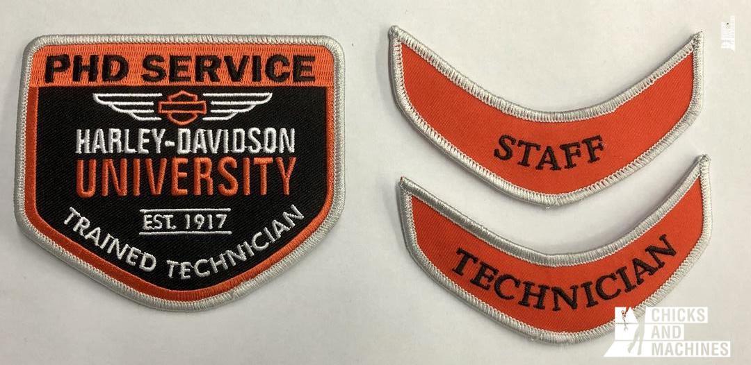 Harley Davidson Technician Badges