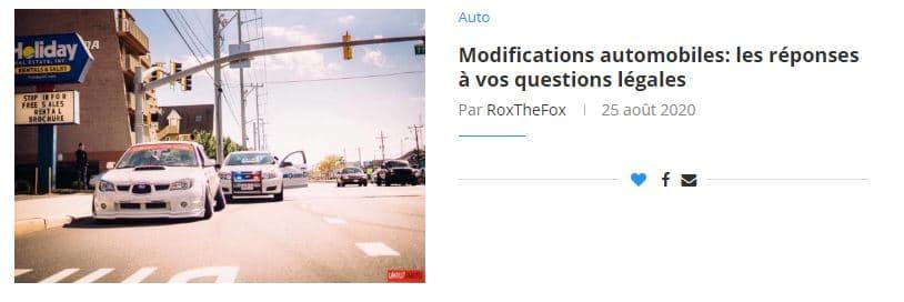 Modifications automobiles: les réponses à vos questions légales