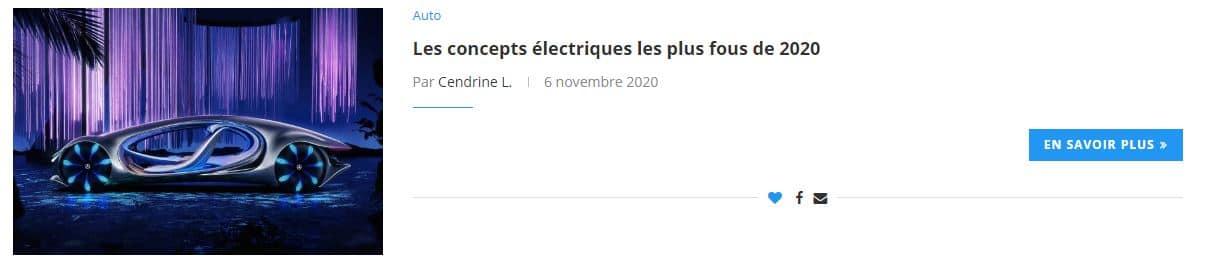 Les concepts électriques les plus fous de 2020