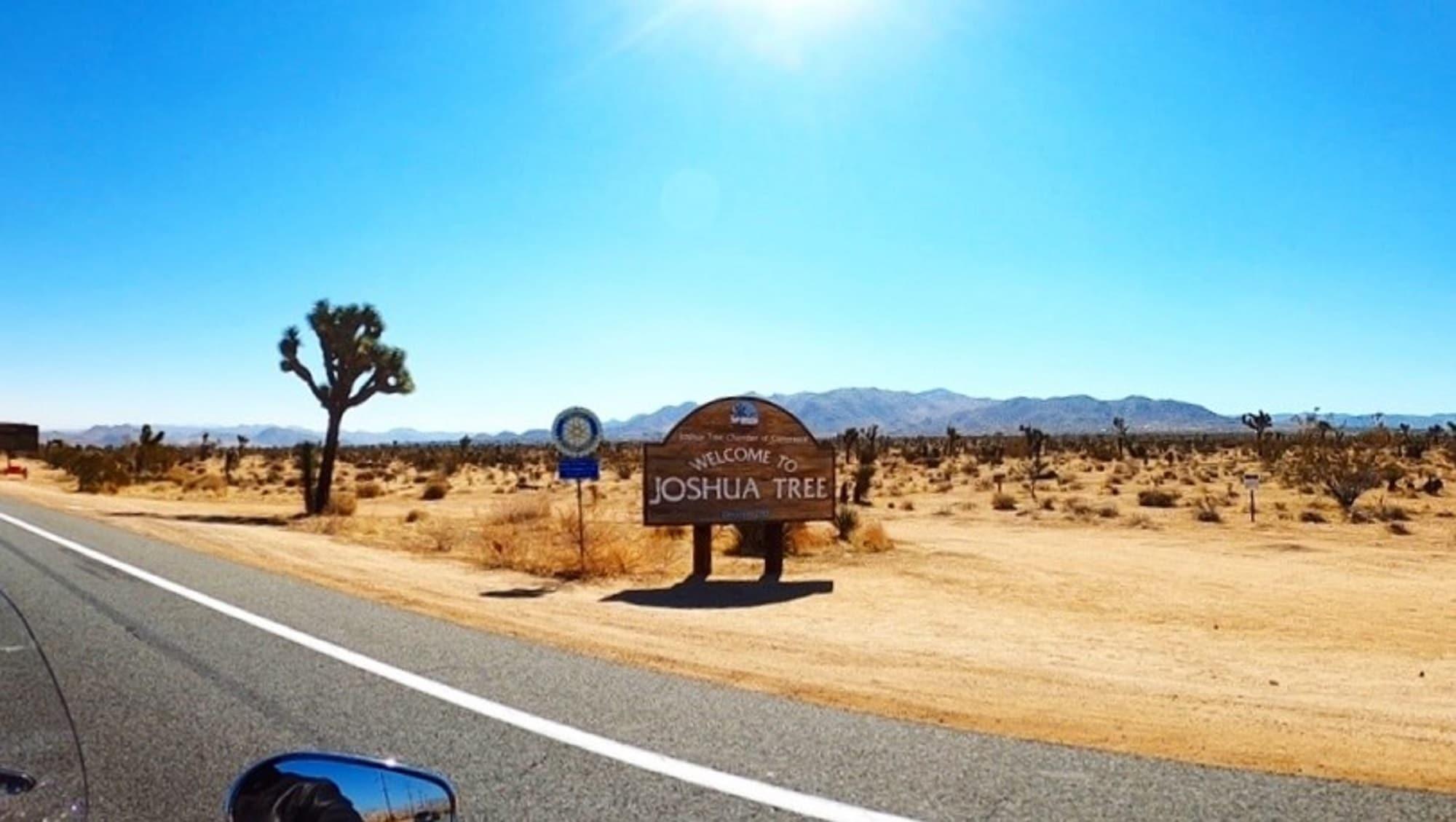 Affiche de bienvenue au Parc Joshua Tree