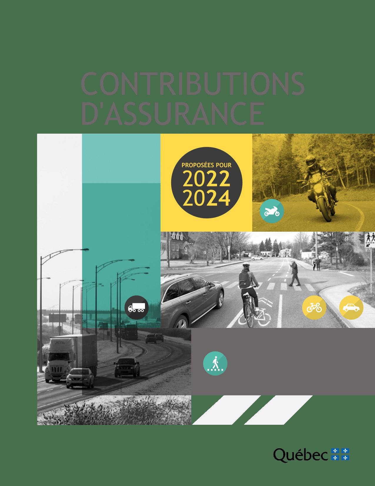 Contributions d'assurance 2022-2024 Saaq Moto