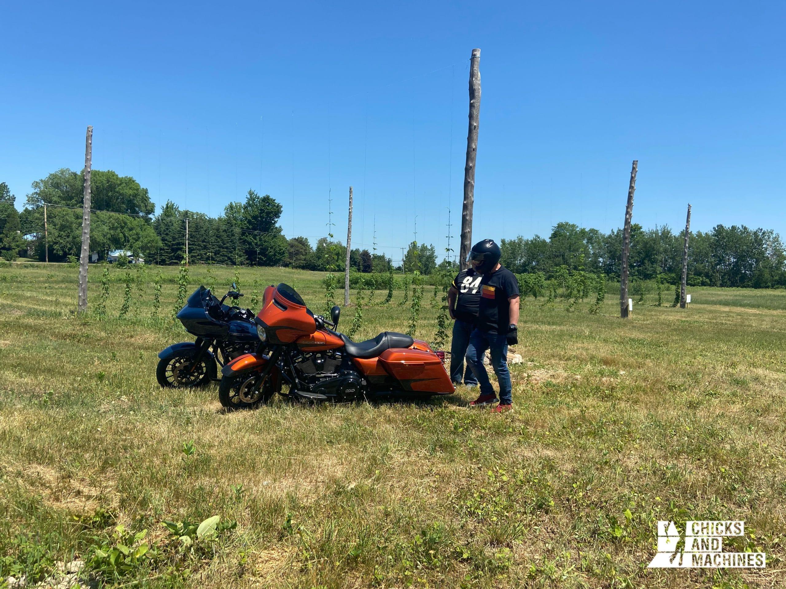 Roadtrip à moto : La plantation de houblon sur le Circuit du paysan