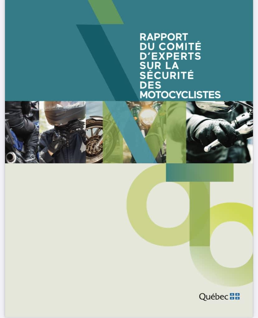 Rapport du Comité d'experts sur la sécurité des motocyclistes. Source : https://saaq.gouv.qc.ca/