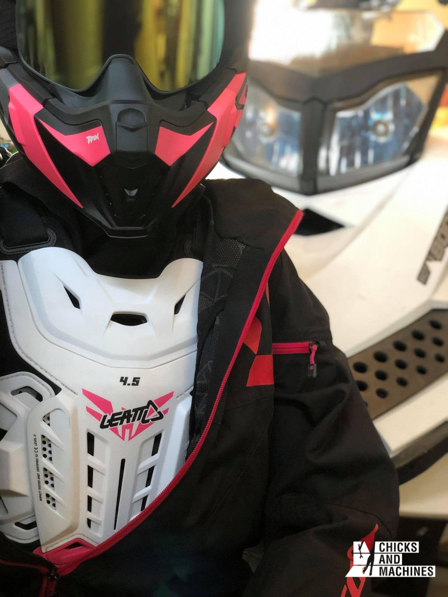 The chest protector tested during the winter