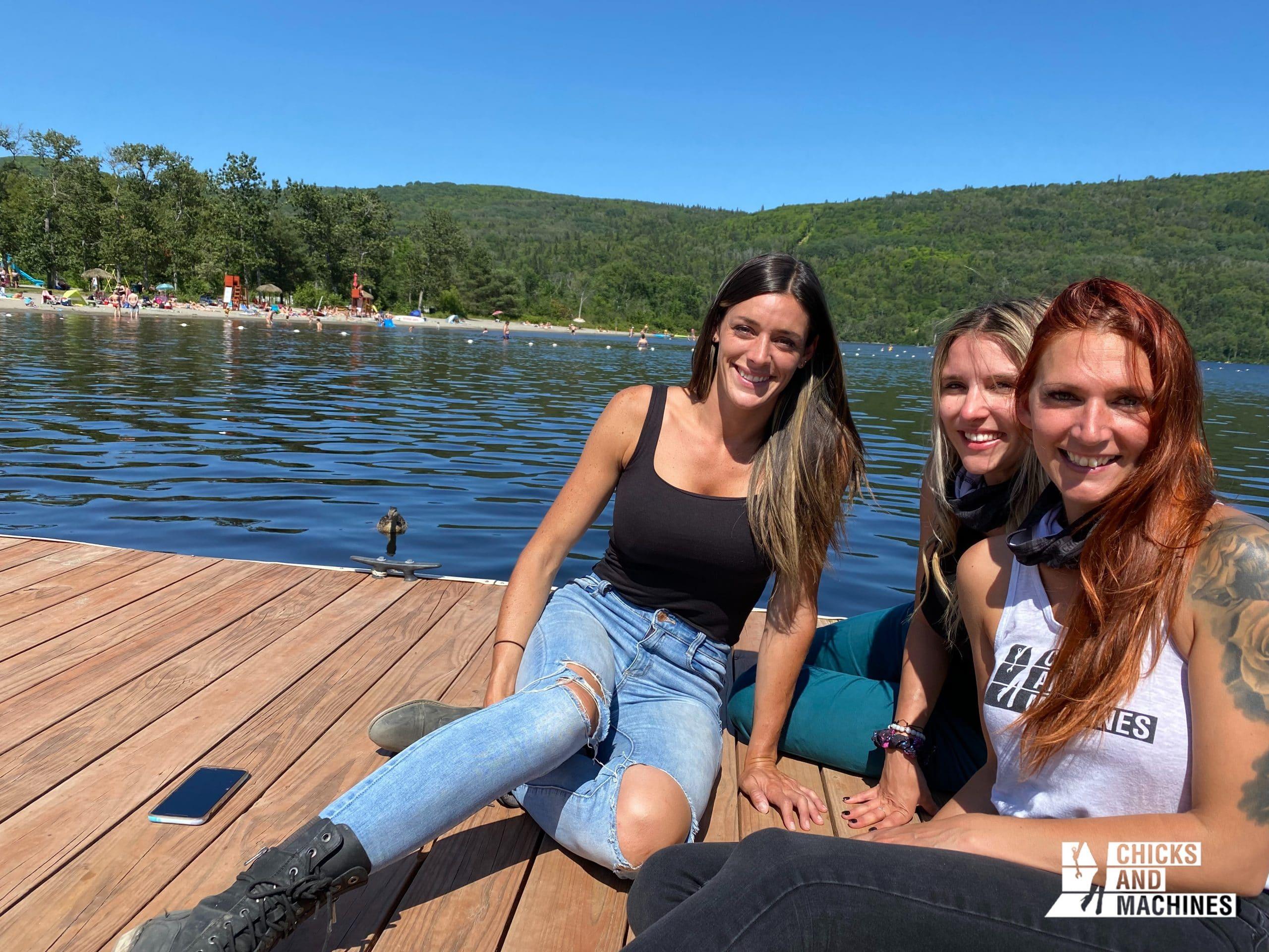 Les filles profitant du soleil et d'un moment de relaxation !