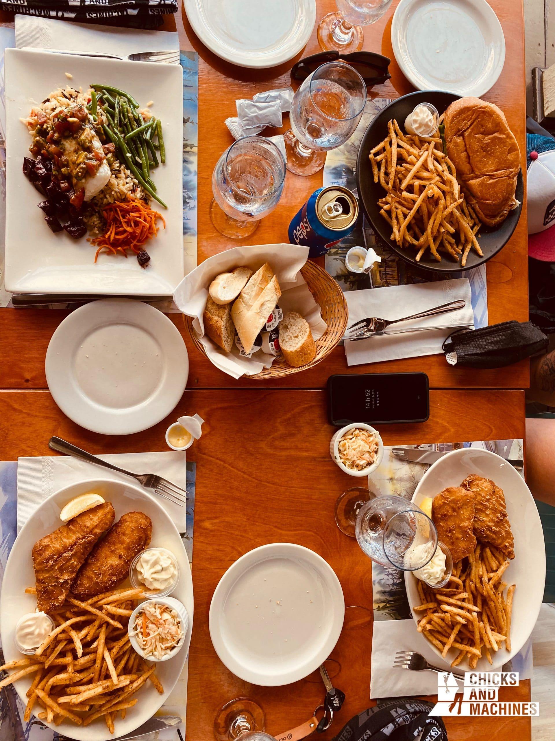 Notre délicieux dîner au Café Bistro l'Anse aux Coques