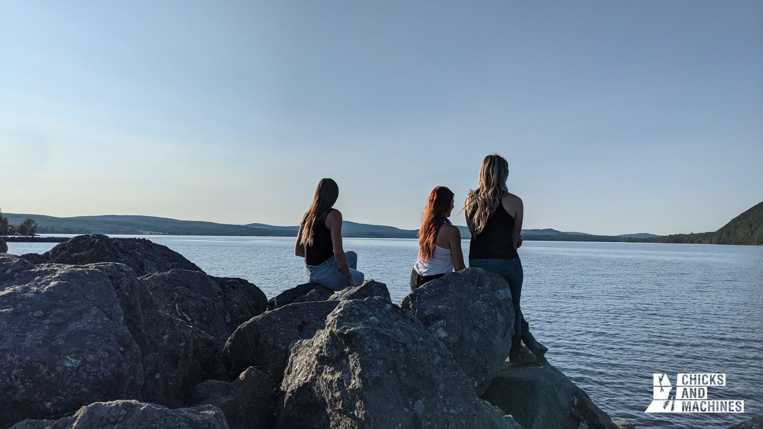 La vue imprenable en fin de journée sur le Lac-Témiscouata