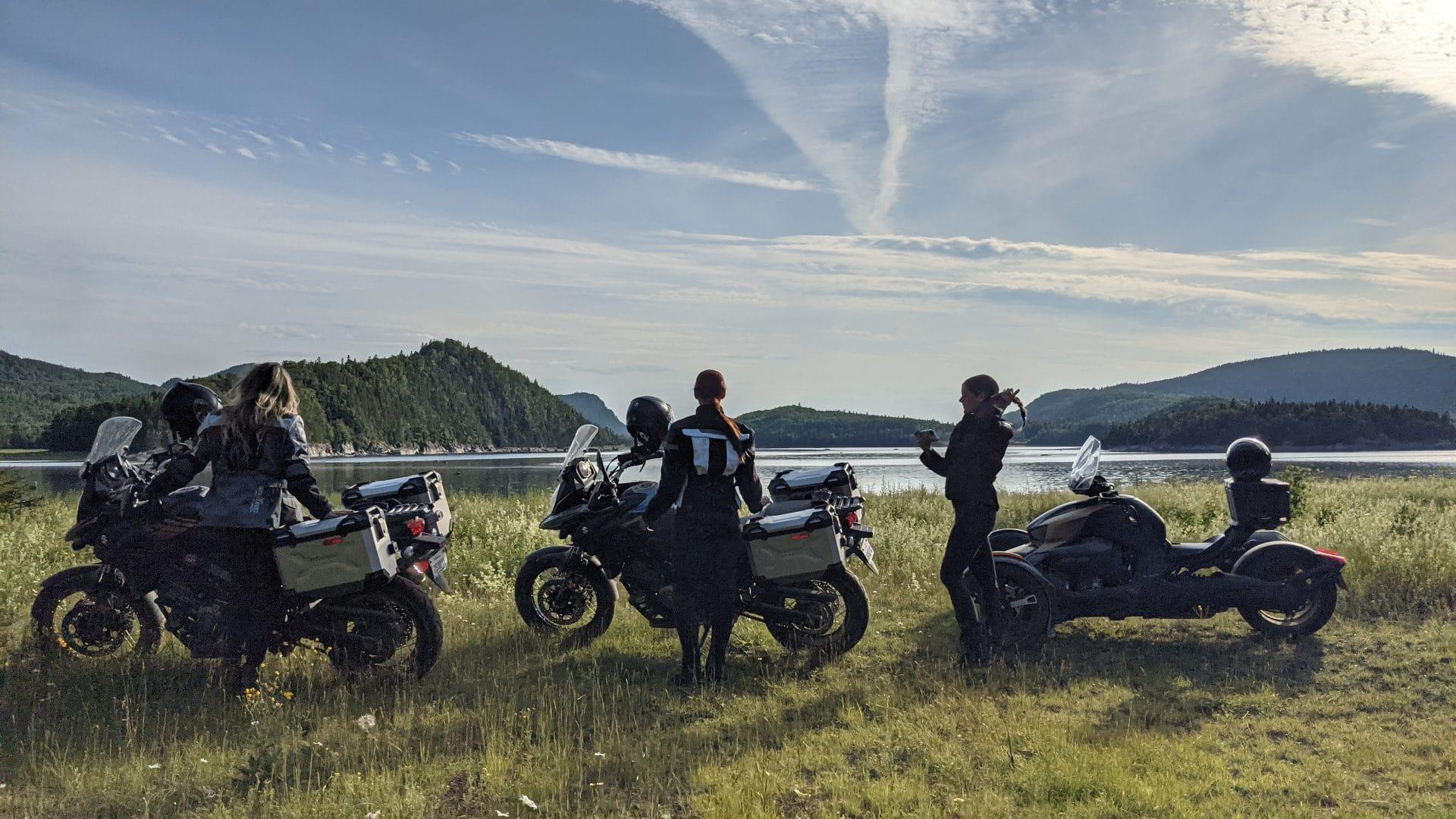 Roadtrip à moto entre filles dans le Bas Saint-Laurent