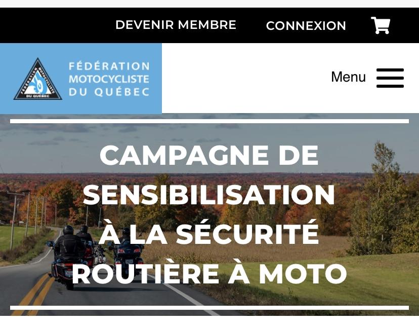La campagne de sensibilisation à la sécurité routière à moto de la FMQ. Source: https://www.fmq.ca/fr/campagne-de-sensibilisation-a-la-securite-routiere-a-moto