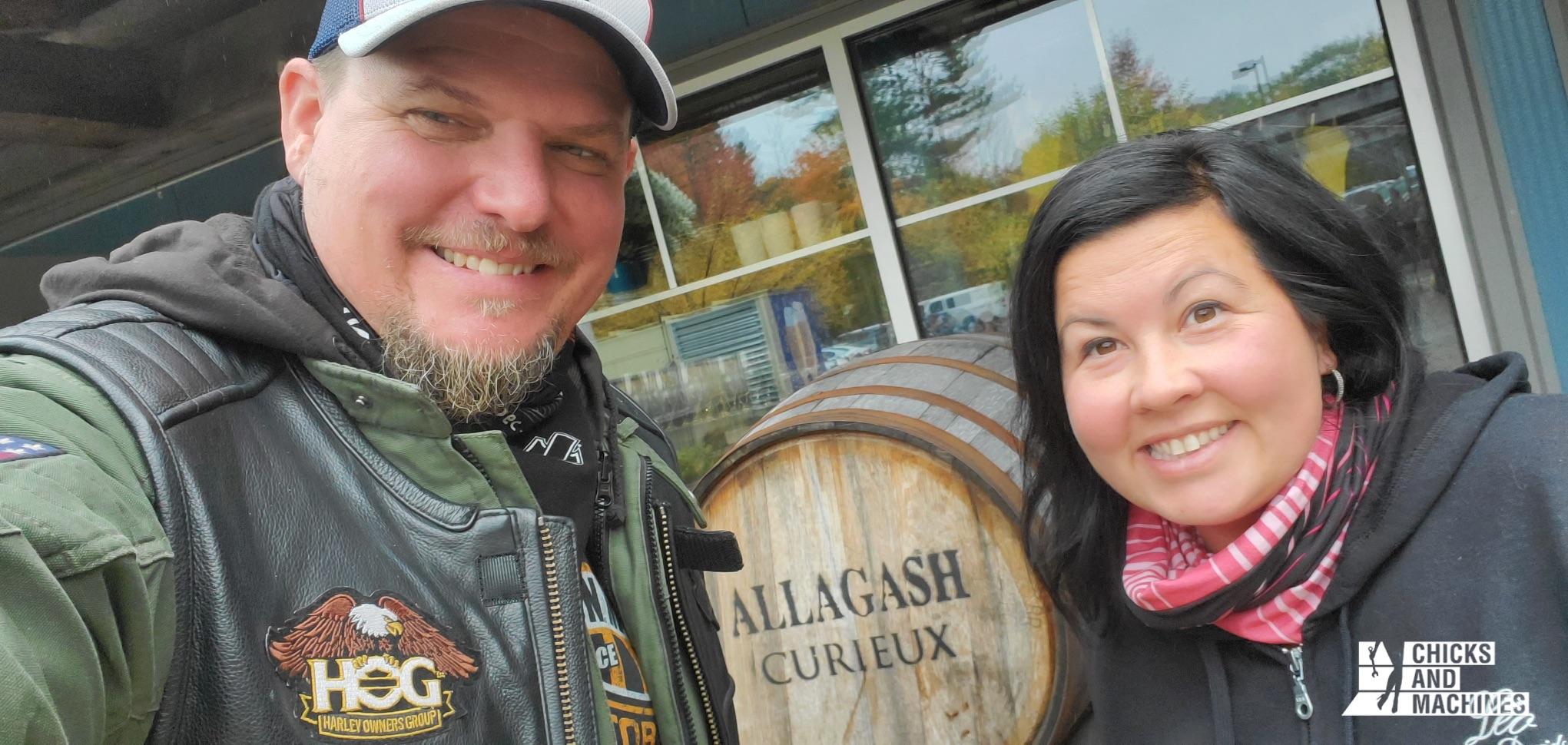 Annie et son conjoint à la célèbre brasserie Allagash.