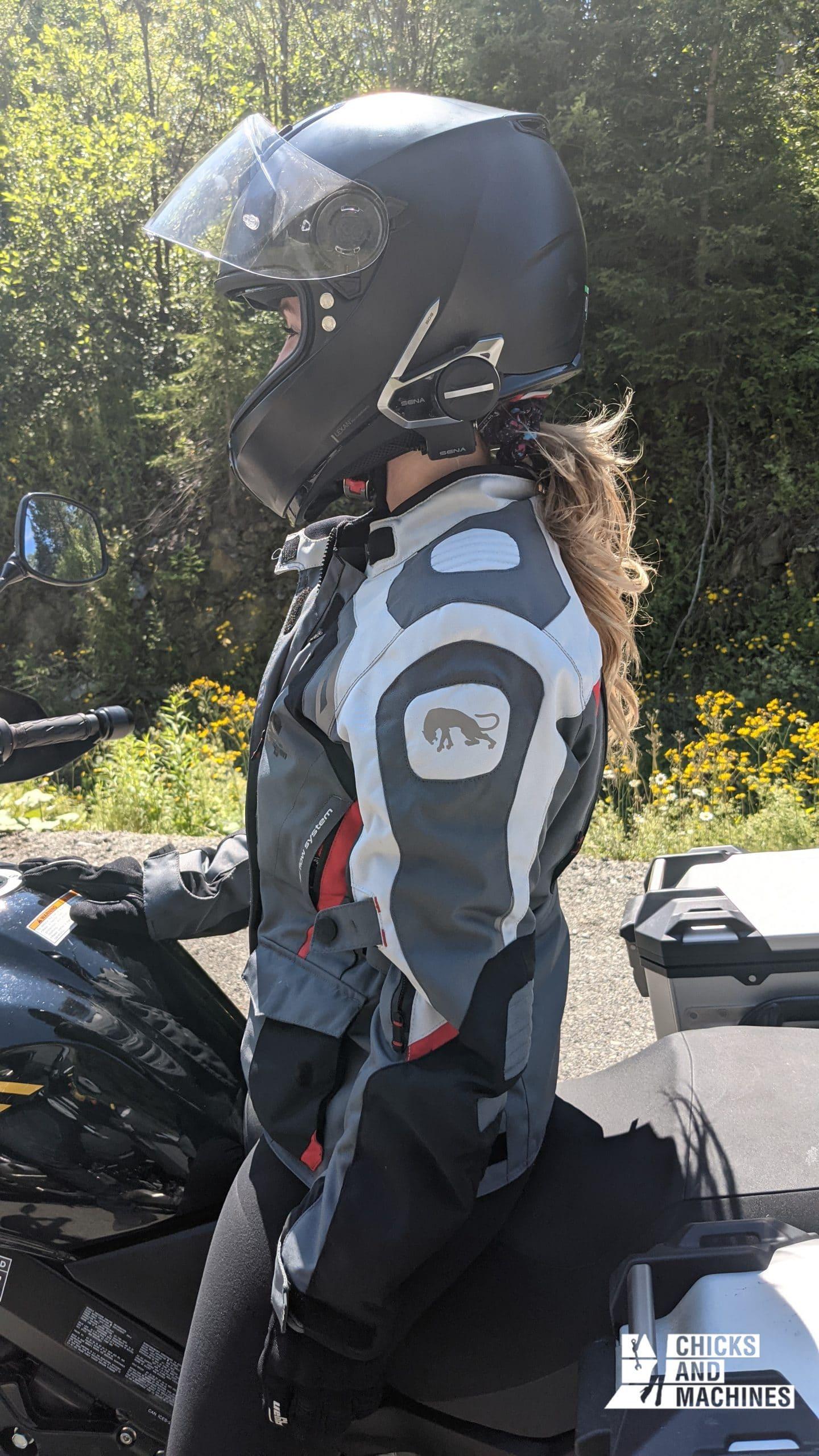 The Sena 50S is easily worn over any helmet!
