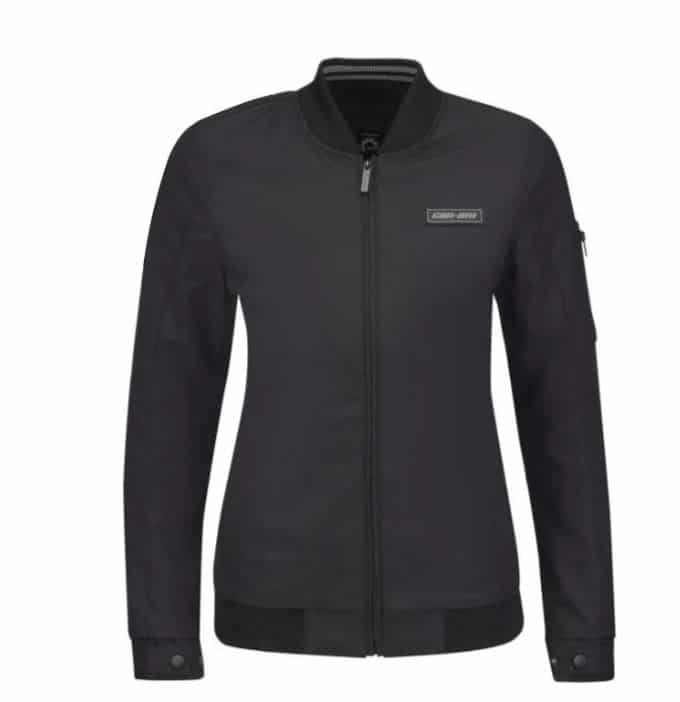 The new CE Jacket for women. Source: https://can-am-shop.brp.com/on-road/ca/en/440926-ladies-bomber-jacket.html