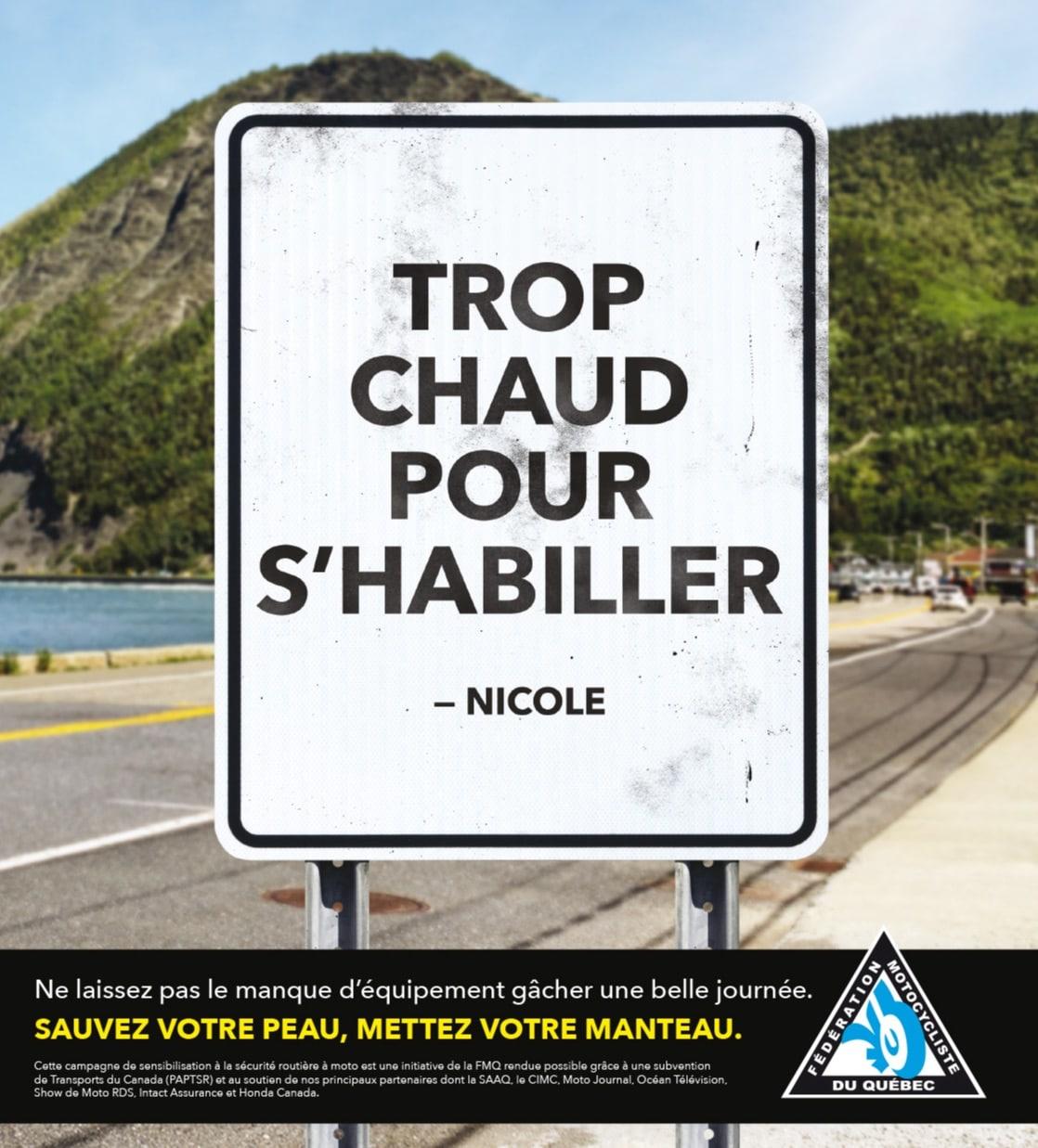 La nouvelle campagne de la FMQ. Source: https://www.fmq.ca/fr/
