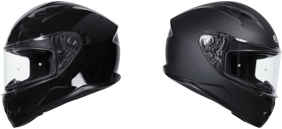 The Zenith Helmet in matte or glossy black. Photo: http://motoplus.ca/conso/2021/04/zox-zenith/