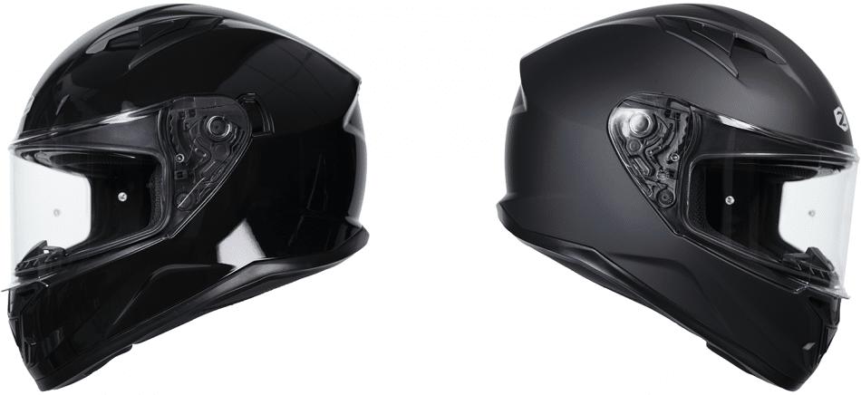 Le casque Zenith de Zox : en noir mat ou brillant. Source: http://motoplus.ca/conso/2021/04/zox-zenith/