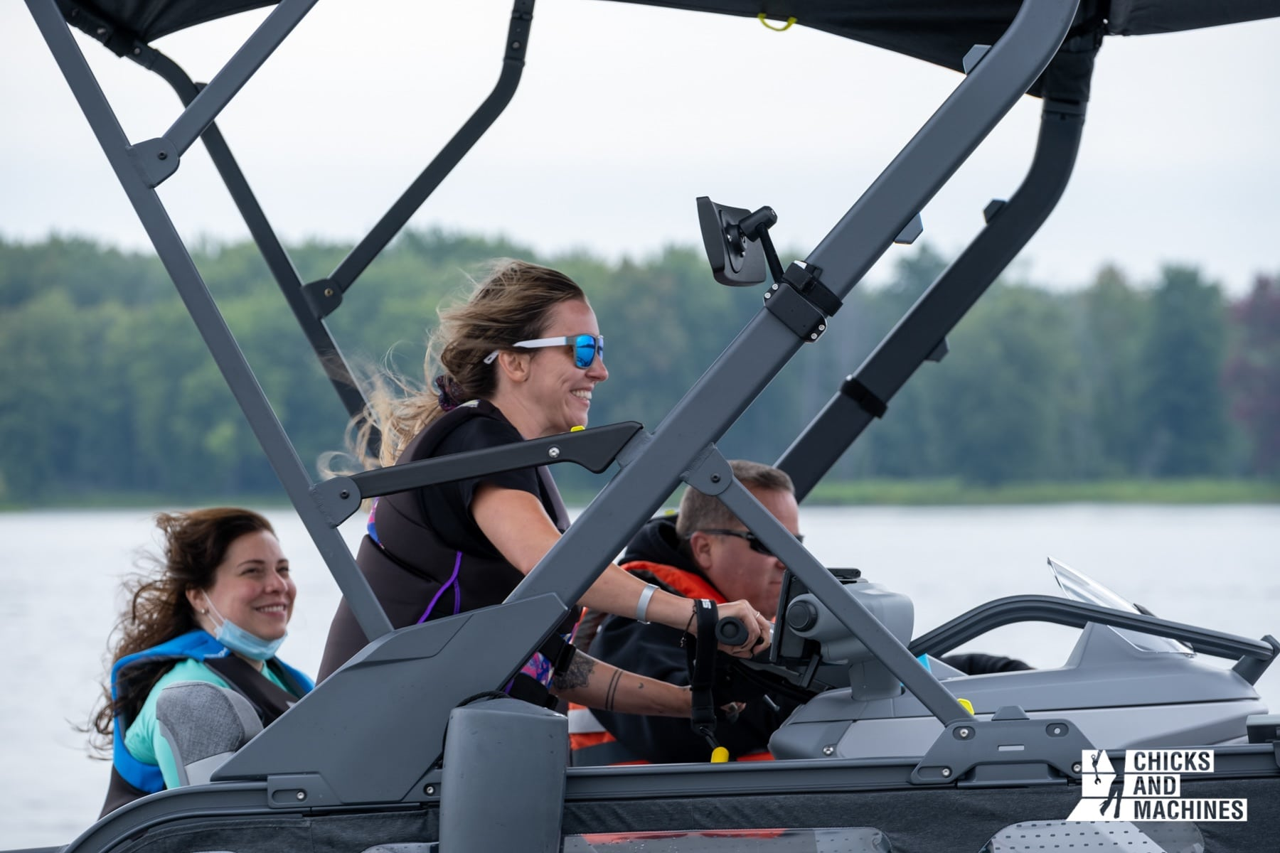 Cyn's face says a lot about the conduct of the 2022 Sea-Doo Switch!