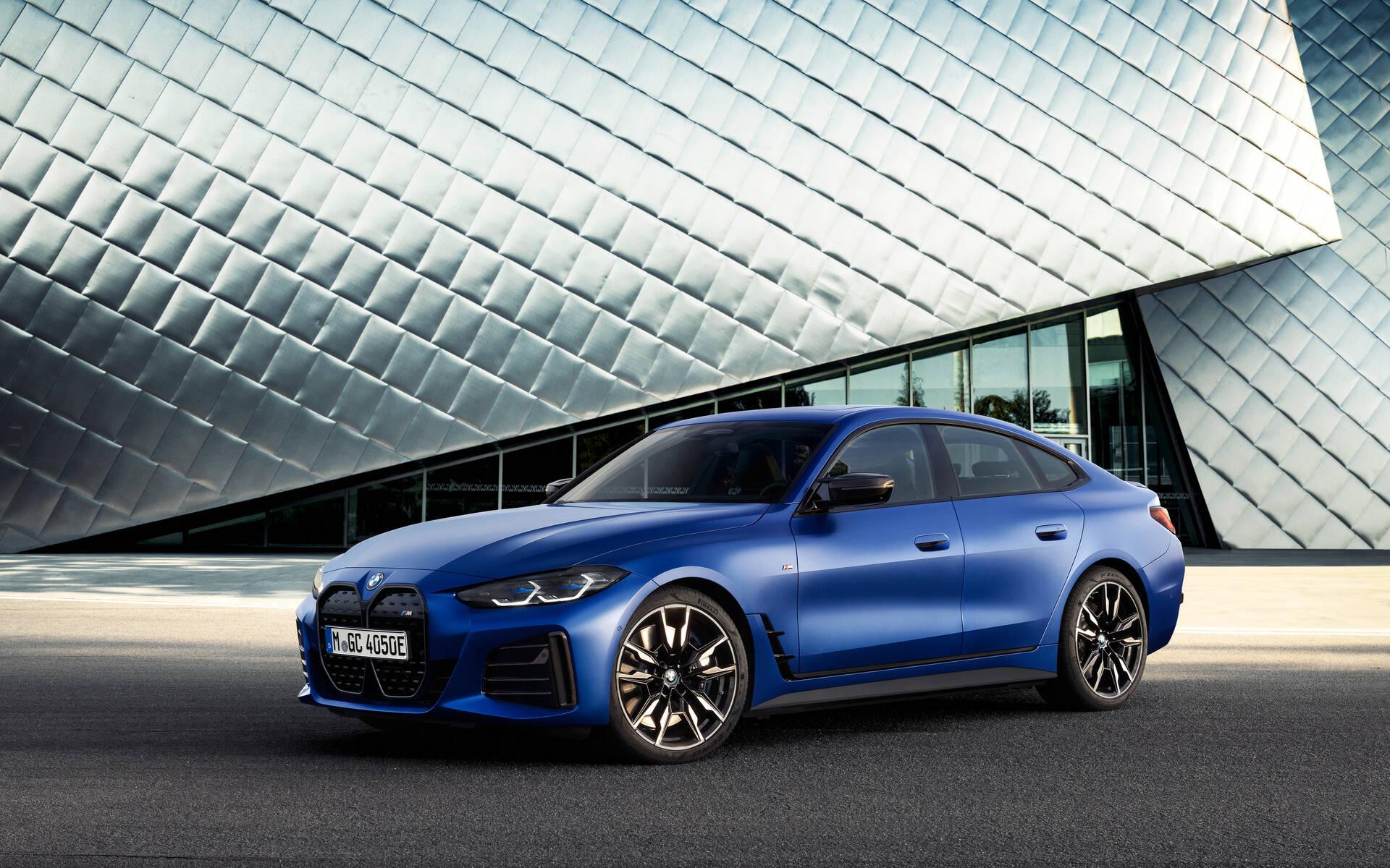Le look moderne de la BMW i4 eDrive 2022. Source: www.guideauto.ca