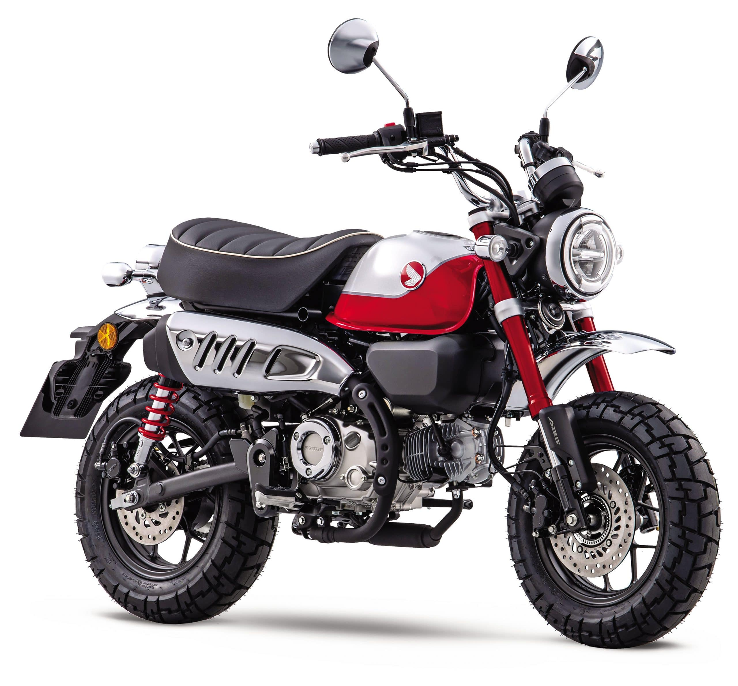 The 2022 Honda Monkey with its more retro look. Source : https://motorcycle.honda.ca/model/minimoto/monkey/2022