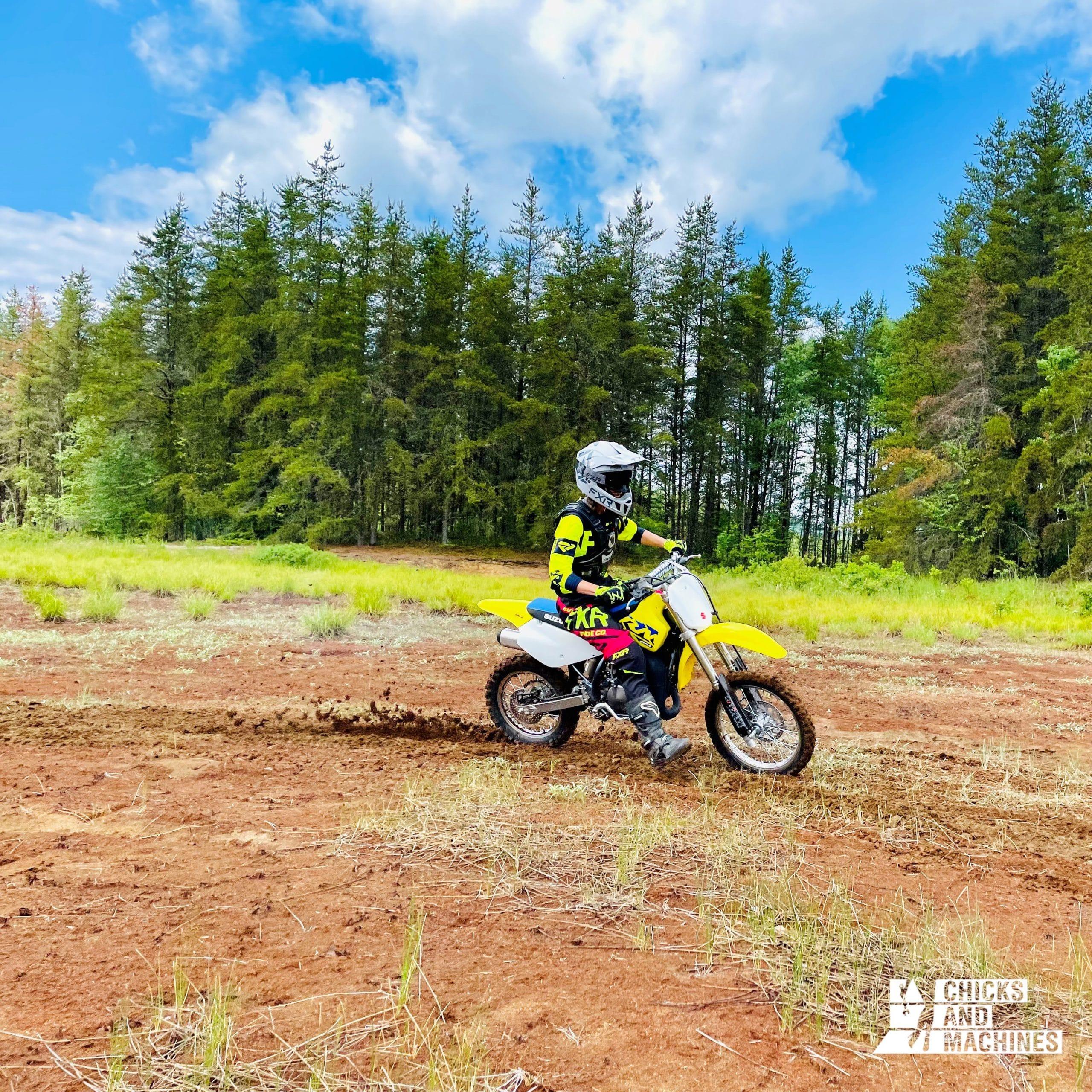 Le motocross : une autre passion pour Bianca.