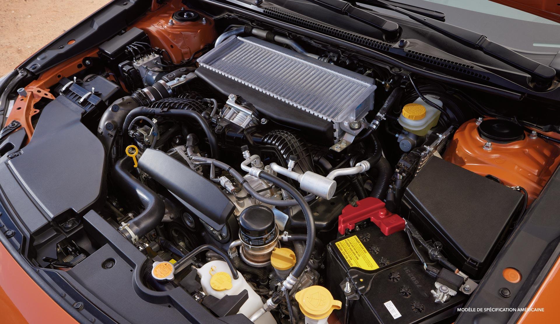 Le tout nouveau moteur BOXER turbo. Source: https://www.subaru.com/2022-wrx