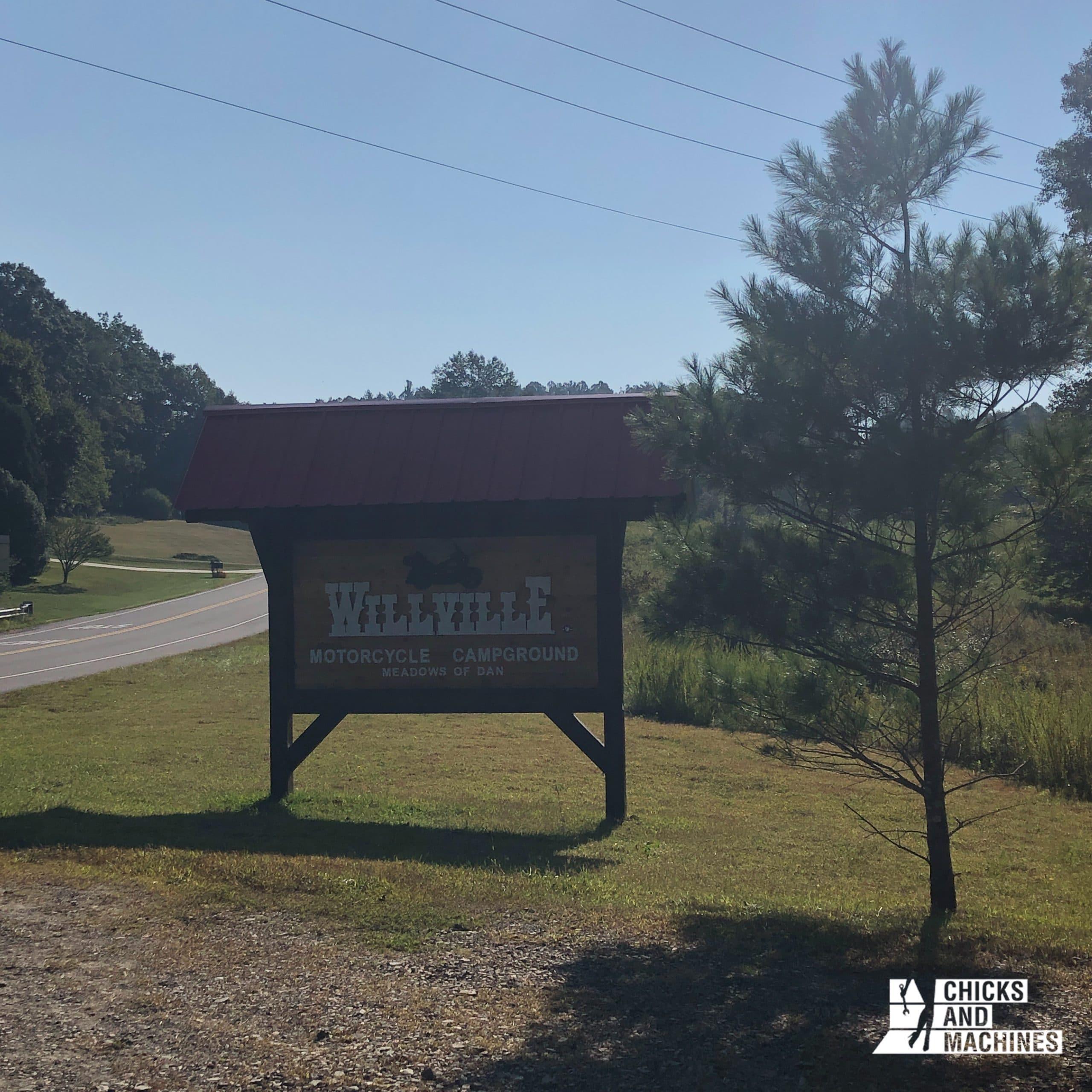 Le Willville Bike Camp; spécialement pour les motocyclistes !