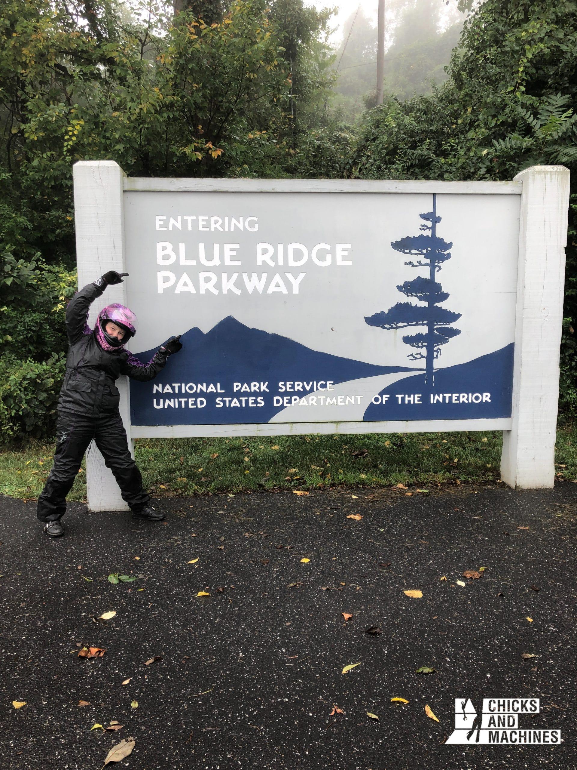 Em à la découverte de la Blue Ridge Parkway.