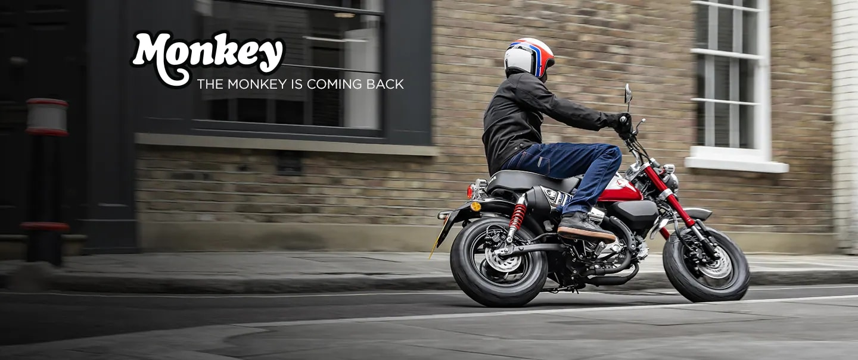 The 2022 Honda Monkey is back! Source : https://motorcycle.honda.ca/model/minimoto/monkey/2022