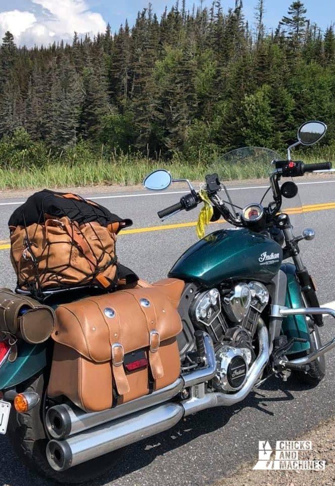 La moto pèlerinage, un séjour seule pour Sophie.