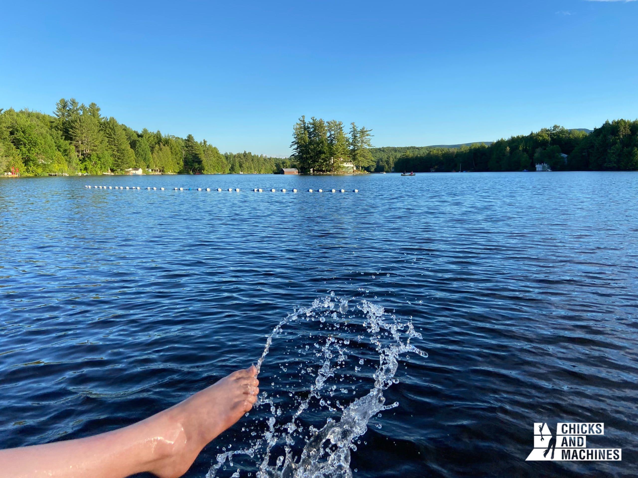 Le Lac Libby n'accepte pas les embarcations à moteur, en faisant un endroit très paisible