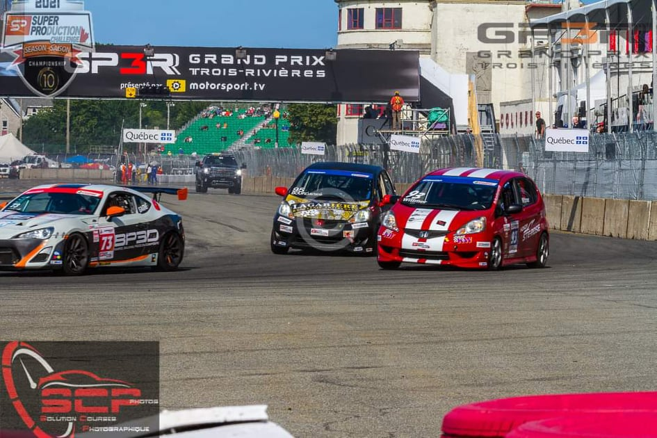 La voiture de Cyndie P. au Grand Prix. Source: Jean-pierre Moisan